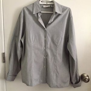Talbots Checked Shirt French Cuffs Size 12P